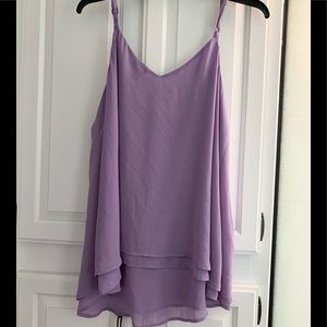 NWT torrid lavender double layer chiffon cami